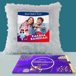 Stylish LED Light Cushion with Cadbury Silk Celebration Pack