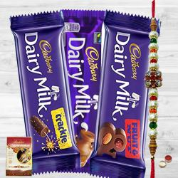 Assorted Cadbury Chocolate Pack with Rakhi