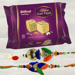 Haldiram Soan Papdi with Rakhi Set