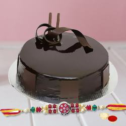 Marvellous choco cake delight with Rakhi, Roli Tika and Chawal