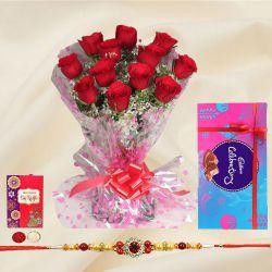 Celebrating with roses and Cadbury