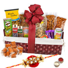 Peoples Delight Dry Fruits Combo with One Rakhi and Roli Tilak Chawal