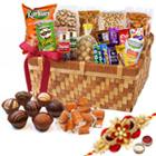 Genial Celebrations Gourmet Combo with One Rakhi and Roli Tilak Chawal
