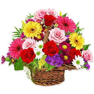 Order online Mixed Flowers Basket