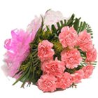 Divine Bouquet of Pink Coloured Carnations
