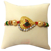 Prestine Collection of Stone Studded  Sree Krishna Rakhi