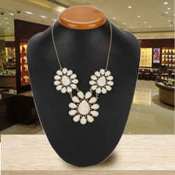 Dazzling Floral Designer Necklace from the House of Avon