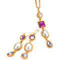 Avon�s Revelry-of-Muliebrity Neck Wear and Ear Chums Ensemble