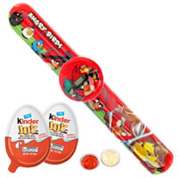 Angry Bird Band Watch with Tasty Kinder Joy for Kids in India
