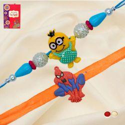Wonderful Spider Man and Minion Rakhi Set for Kids