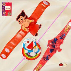 Exclusive Cartoon Rakhi Set of 3 Kids Rakhis