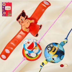 Wonderful Chota Bheem, Doraemon n Minions Rakhi for Kids