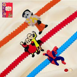 Exclusive Chota Bheem, Motu Patlu n Spider Man Cartoon Rakhi