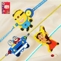 Remarkable Chota Bheem, Motu Patlu n Minions Rakhi for Kids