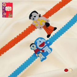 Amazing Chota Bheem with Doraemon Rakhi