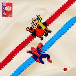 Wonderful Motu Patlu and Spiderman Rakhi Set