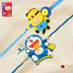 Wonderful Doraemon and Minion Rakhi