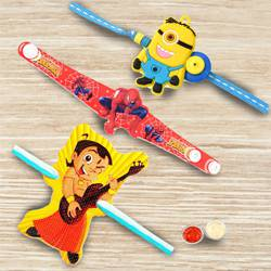 Wonderful Chota Bheem, Minions n Spiderman Rakhi