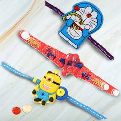 Exciting Doraemon, Spider-Man n Minion Rakhi