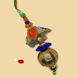 Beautiful Bhabhi Lumba Set with free Roli Tilak and Chawal for Rakhi Special