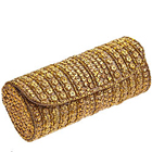 Order Golden Leather Clutch Bag for Ladies from Spice Art