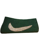 Chic Green Coloured Stone Studded Ladies Purse from Spice Art