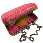 Astonishing Pink Coloured Ladies Leatherite Box Clutch from Spice Art