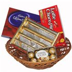 Tasty Gift Hamper of Chocolates in a Basket