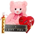 Delightful Basket Flooded with I Love You Chocolates Gift Hamper