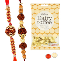 Trendy 2 Bhaiya Rakhi with golden candy
