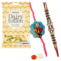 Smart One Kid Special Angry Bird Rakhi and One Bhaiya Rakhi with  golden candy