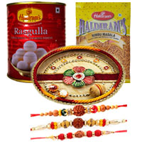 Exciting Set of 3 Bhaiya Special Rakhi and Puja Thali