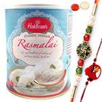 Artistic Gift of Rasmalai from Haldiram with Bhai Rakhi N Kid Rakhi
