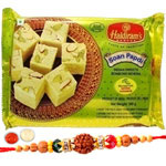 Crafty One Brother Rakhi with One Haldirams Soan Papdi Pack