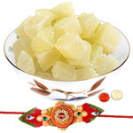 Delicate Rakhi for Bhaiya with 400 g Bikaji Dry Petha
