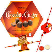 Arresting 2 Kid Rakhi with Waitrose Chocolate Ginger