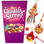 Captivating One Family Rakhi Set with Nestle Quality Street