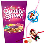 Special Two Kid Rakhi with Nestle Quality Street