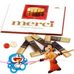 Designed Two Kid Rakhi with Cadbury Heroes Chocolate