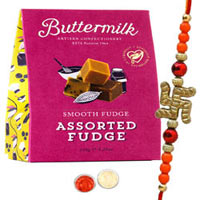Extravagant One Bhaiya Rakhi with Buttermilk Chocolate Pack