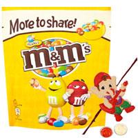 Angelic 1 Kid Rakhi with M N M Chocolate Pack