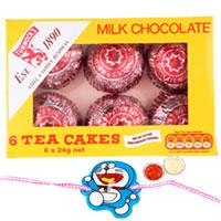Classic 1 Kid Rakhi with Tunnocks Milk Chocolate Tea Cakes.