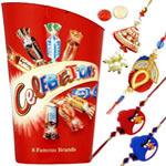 Amazing Present of 280g Celebration Choco Pack N 2 Kid Rakhi with 1 Bhaiya N Bhabhi Rakhi