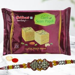 Surprising Rakhi with Soan Papdi