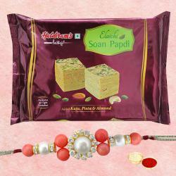 Alluring Rakhi with Soan Papdi