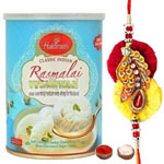 Seductive One Rakhi with Haldiram Rasmalai