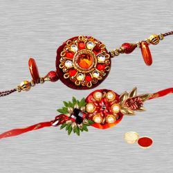 Two Gorgeous Rakhi Set