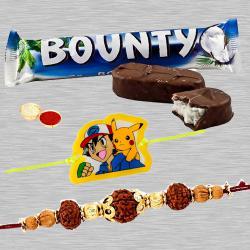 Significant Bhaiya Rakhi, Pokemon Kid Rakhi, Bounty Chocolate
