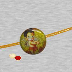 Pretty 1 Hanuman Design Kid Rakhi