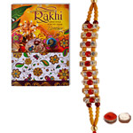 Trendy One Beaded Rakhi